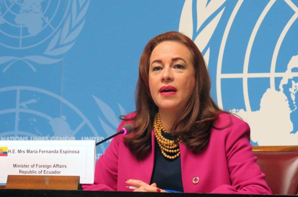 Entrevista a la diplomática María Fernanda Espinosa, Presidente de Asamblea General de la ONU